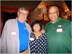 The St. Joe's bunch – Tom Browne, Mary Ojeda and Norman Florence